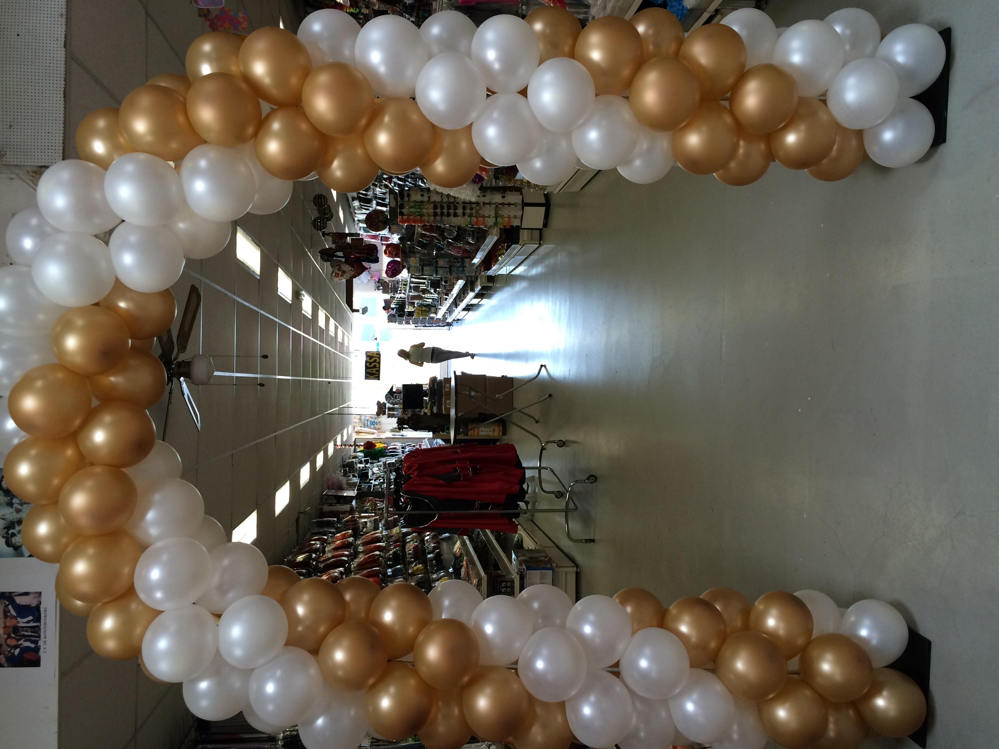 ballonnenboog goud en wit