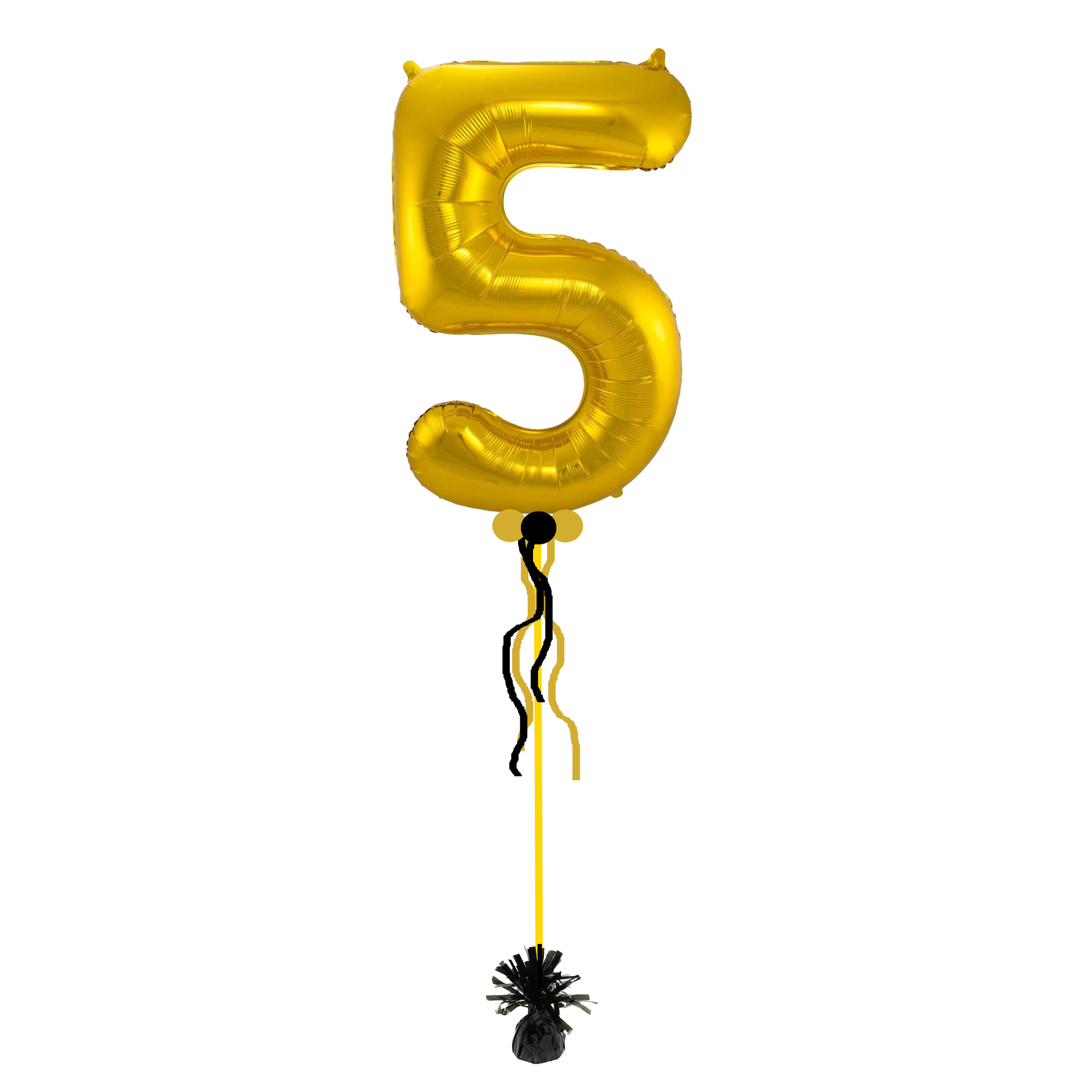 Helium cijfer ballon enkel - kleur en cijfer naar keuze