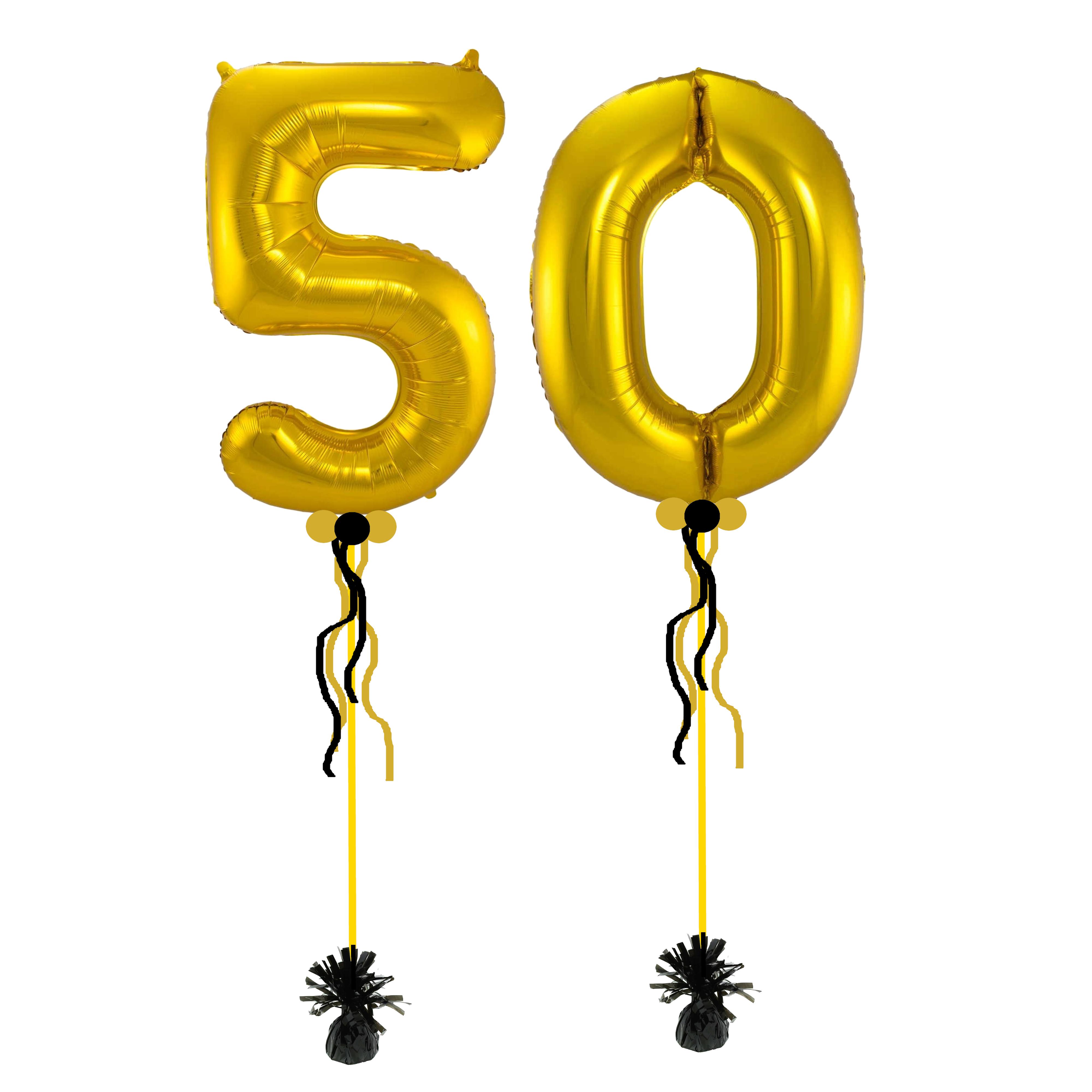 Helium cijfer ballon dubbel - kleur en cijfers naar keuze