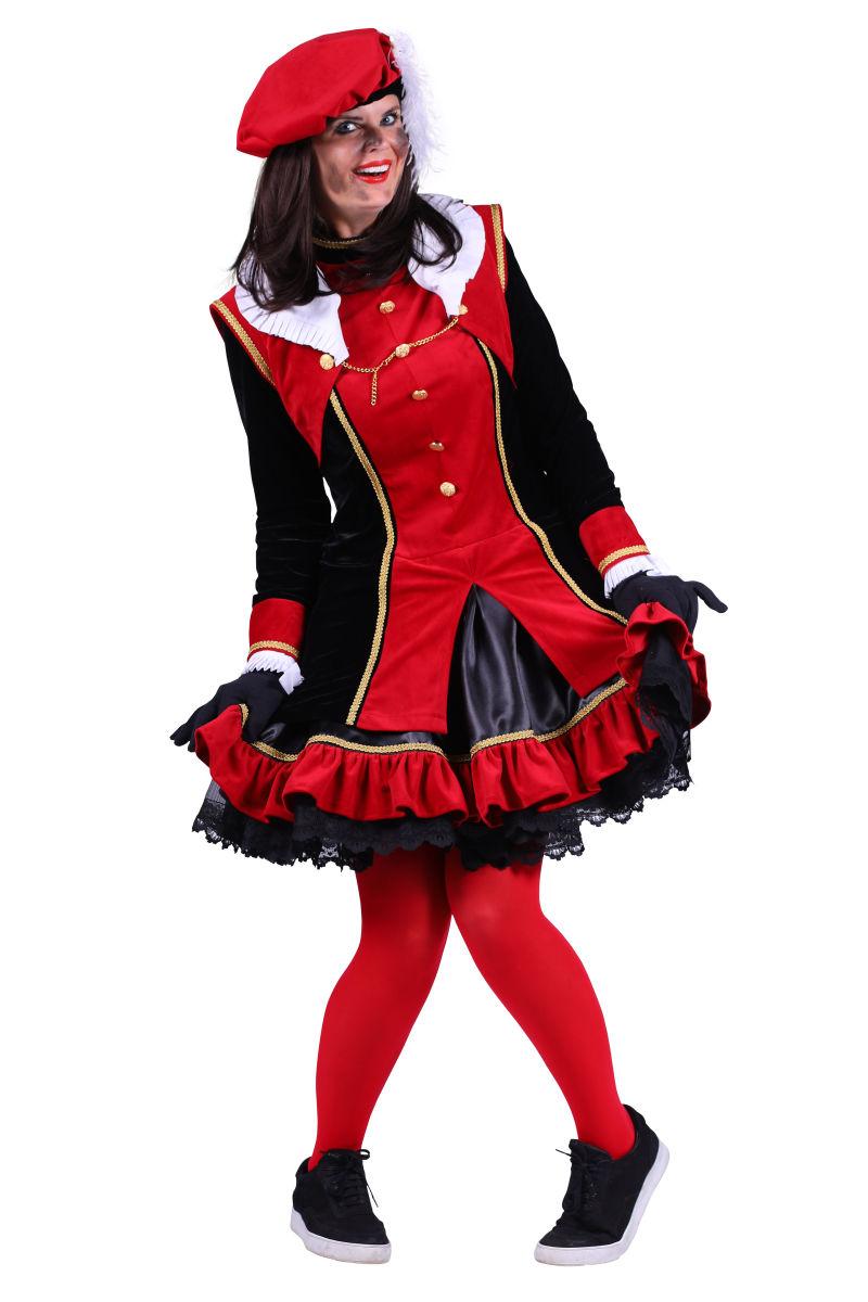 Damespiet ''Graciosa'' - zwart-rood