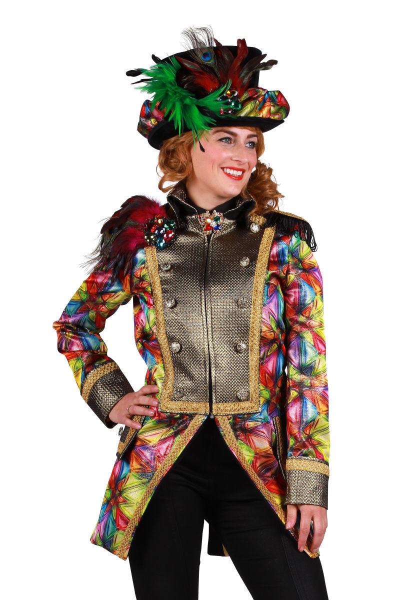 Carnavalsjas metallic ''Wow'', Glas - voor dames