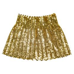 Minirokje met Sequins met Pailletten - goud