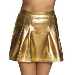 Minirokje Shiny - goud