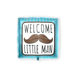 Folieballon 'Welcome Little Man' 46cm S40