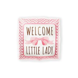 Folieballon 'Welcome Little Lady' 46cm