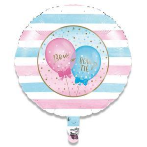Folieballon Gender Reveal Stripes 46cm S40