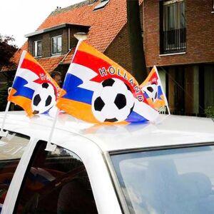Autovlag Holland met voetbal (45x28cm)