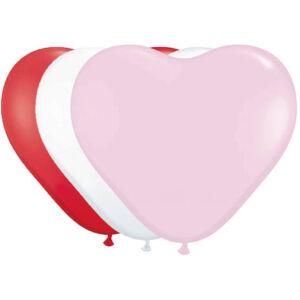 Hartballonnen latex gemengde kleuren - 8st