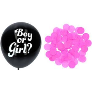 Gender Reveal Ballon Meisje met Roze Confetti 41cm - 3 stuks