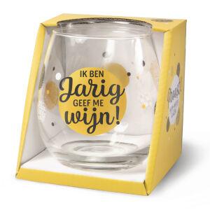 Waterglas Proost Jarig