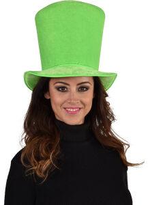 Hoge hoed groen ( LUXE )