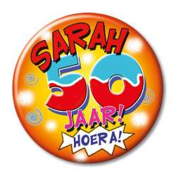 Button klein - sarah 50 jaar