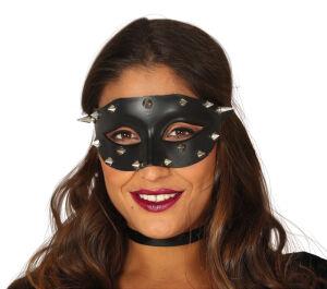 zwarte masker Met Zilveren Punten