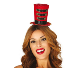 Mini Hoedje Majorette Circus - rood