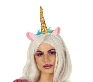 Tiara unicorn - eenhoorn goud