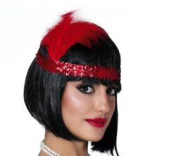 Charleston hoofdband - rood