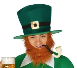 Hoed St.Patrick Day met Baard - hoog