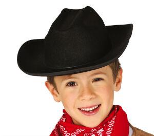 Cowboyhoed kind zwart