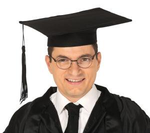 Doctoraal hoed zwart basic