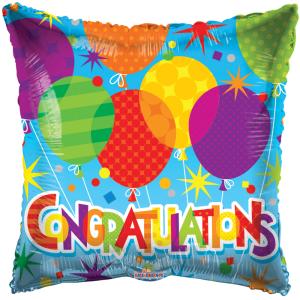 Folieballon congratulations 46cm S-40