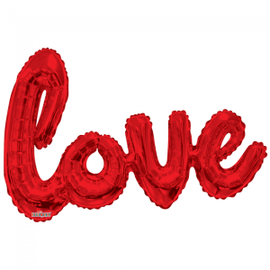 Foilballon script XL love red 91cm
