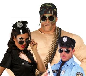 Bril voor politie, piloot of militair