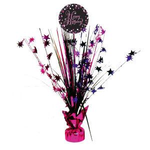 Tafel decoratie Happy Birthday Sparkling Celebration - roze/zilver