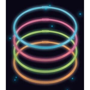 4 Glow in the dark Necklaces Plastic 56 cm