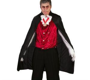 Vampieren cape met rode binnenkraag 110cm