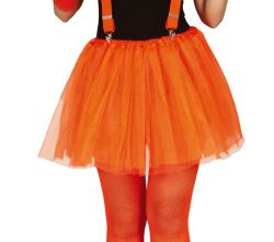 Vrouw Neon Orange Tutu 40 Cm