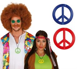 Hippie Kettingen in diverse kleuren - 7cm - blauw/rood/groen/geel