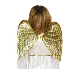 Vleugels voor kinderen - goud - 40x35cm