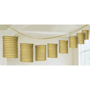 Lantern guirlande goud papier 365 cm