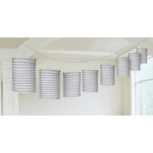 Lantern guirlande zilver papier 365 cm