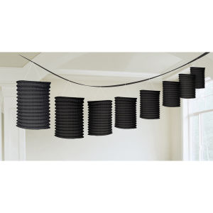 Lantern guirlande zwart papier 365 cm