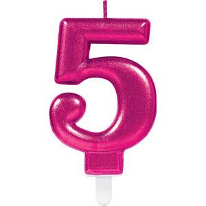Cijferkaars 5 Sparkling Celebration - roze