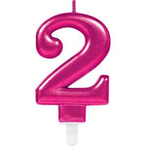 Cijferkaars 2 Sparkling Celebration - roze