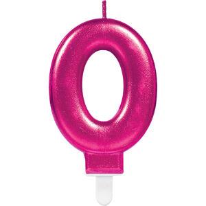 Cijferkaars 0 Sparkling Celebration - roze
