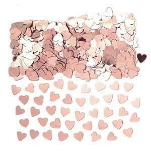 Hartjes confetti rose goud