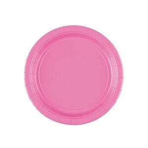 Borden rond papier baby roze 18cm