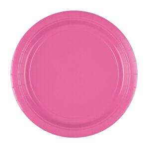 Borden rond papier baby roze 23cm