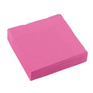 Servetter vierkant baby roze 25x25cm