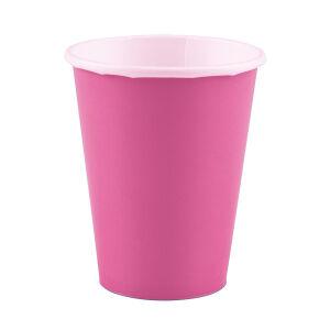 Bekers papier baby roze 266ml