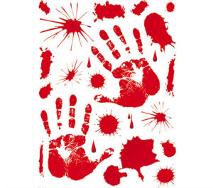 Bloody Stickers Set 30 X 39 Cm