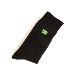 Achterhoekse Sokken ''klein logo'' - zwart