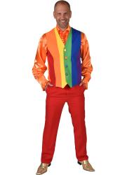 Gilet voor Heren Regenboog Kleuren