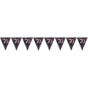 Vlaggenlijn 70 jaar Sparkling Celebration - roze/zilver