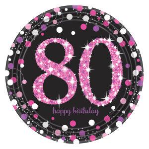 Borden 80 jaar Sparkling Celebration - roze/zilver
