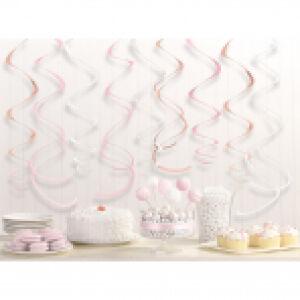 Swirl decoratie Rosé Gold Blush 12st