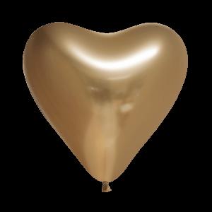 Chrome ballonnen hart goud